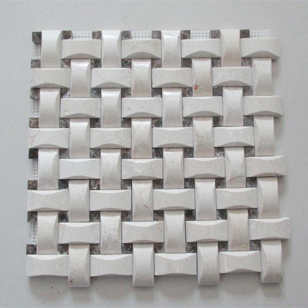 Building Material 3D Mosaic Decorative Bathroom Mosaic Wall Tile