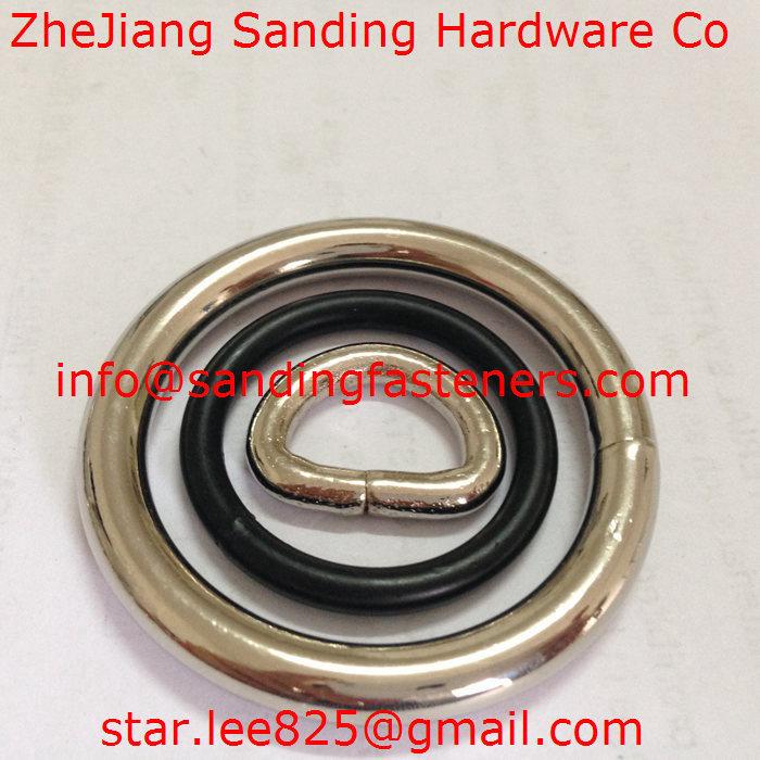 Stainless Steel 304 Nickel Plated Metal O-Rings/ Metal Welded O Ring