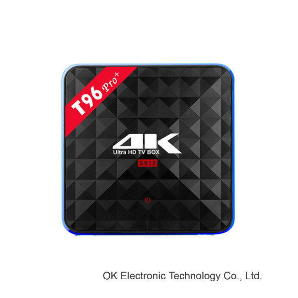 WiFi Android TV Box Amlogic S912 T96 PRO 3GB/32 GB Kodi 17.0 Preloaded Smart TV Box