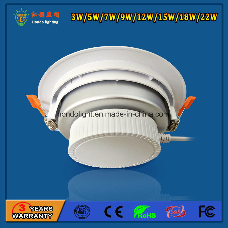 22W Dimmable LED Down Light for Indoor Use