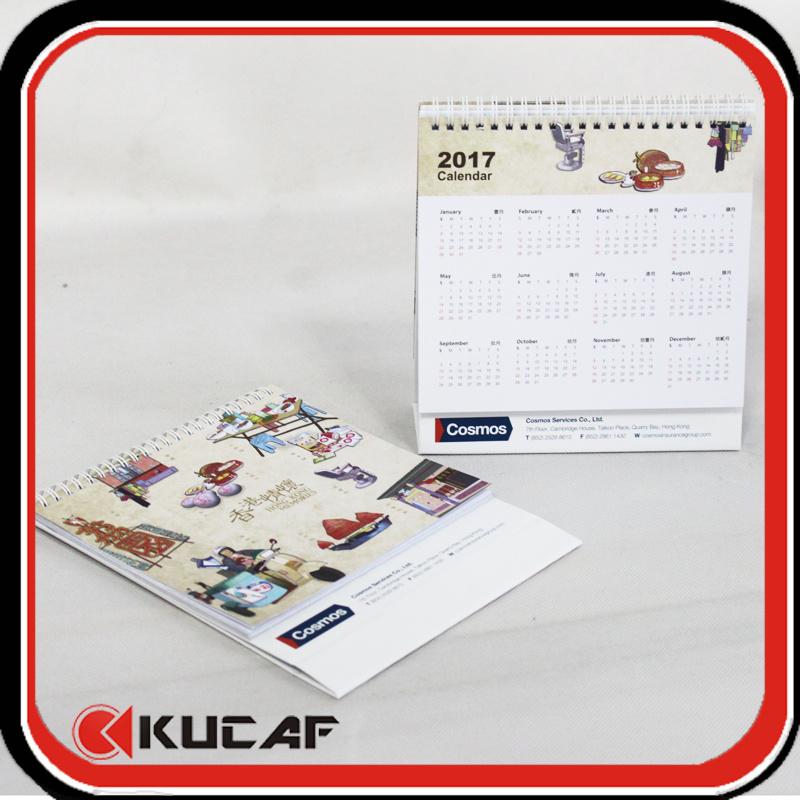 Advertising Laser Die Cut & Gold Hot Stamping Pearl Paper Calendar 2018