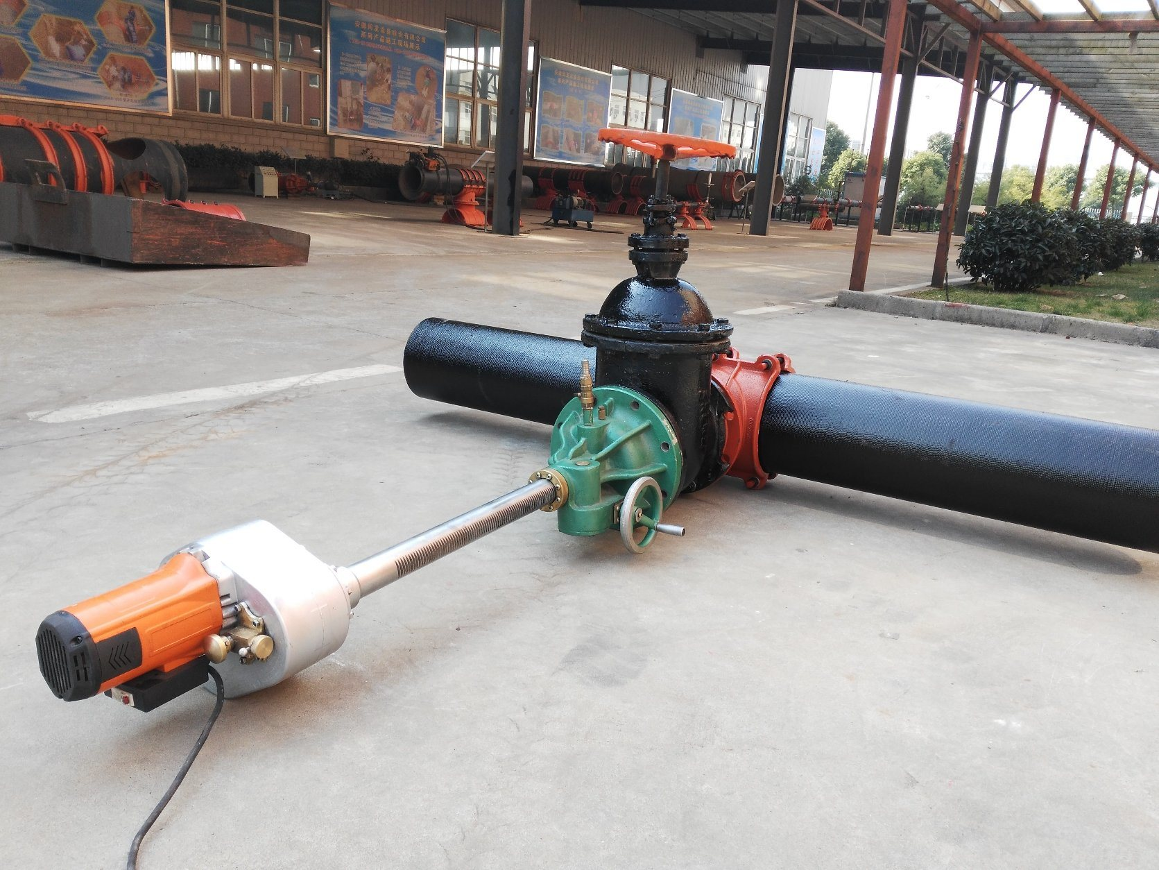 Dk6-200c Electrical Pipeline Hot Tapping Drilling Punching Machine for Steel Pipe