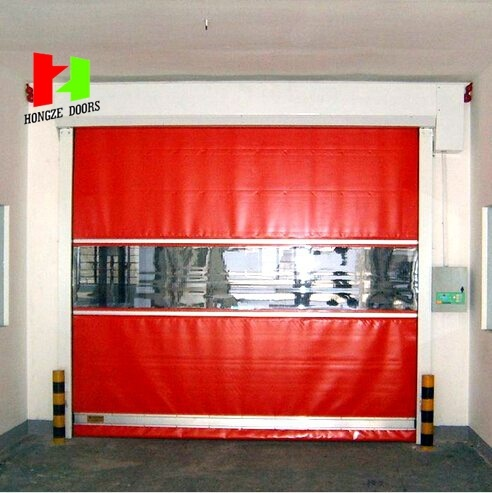 Poly Carbonate PVC Curtain High Speed Door Industrial Roll-up Door (HZFC001)