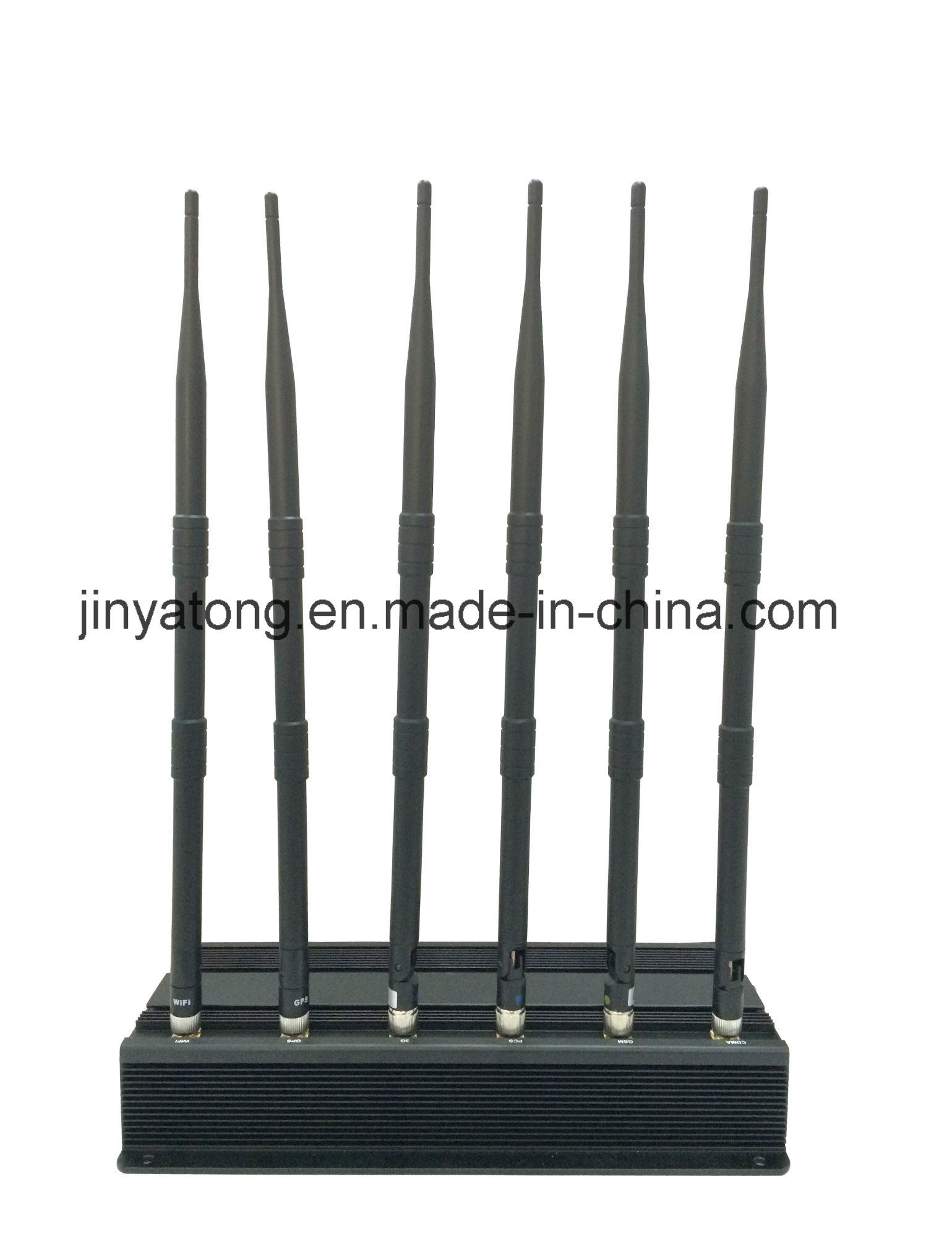15W 6 Antenna Cell Phone Wi-Fi and GPS Signal Jammer