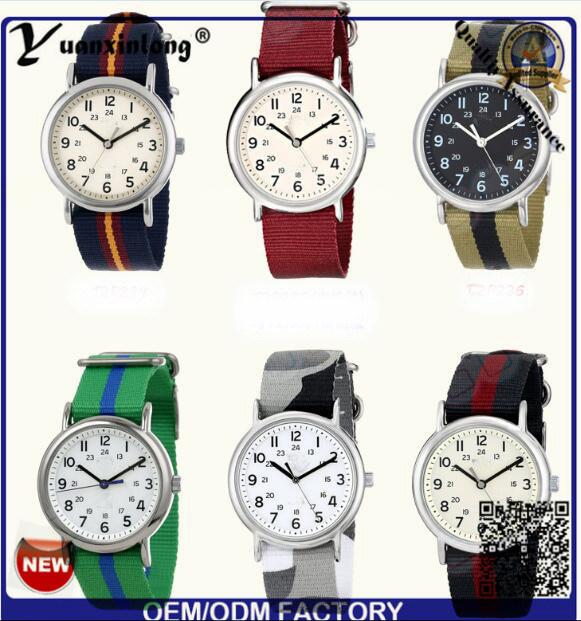Yxl-123 Simple Design Nylon Nato Ladies Dress Watch Quartz Sport Casual Wrist Watch Lady Vogue Men Watches Factory