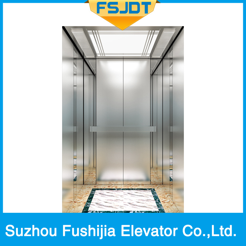 Passenger Home Villa Residential Elevator with Hairless Stainless Steel Decoration