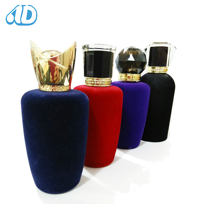 Ad-P267 Glass Perfume Velvet Bottle Zamac Cap