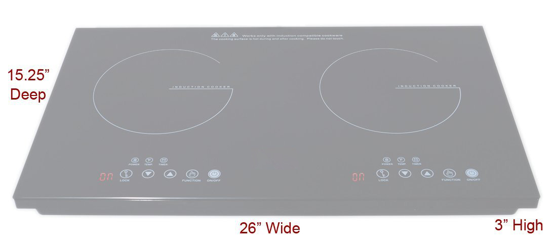 Two-Burner 120V Cooktop Made From Black Ceramic Glass
