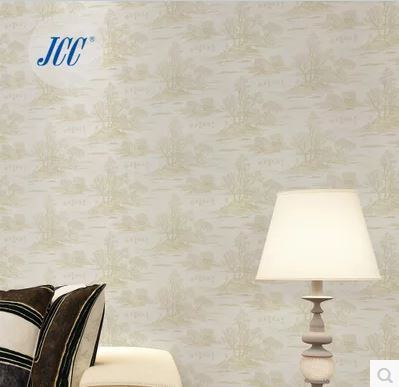 Seamless Wallpaper Fabric Embossing Ancient Chinese Style for Study Living
