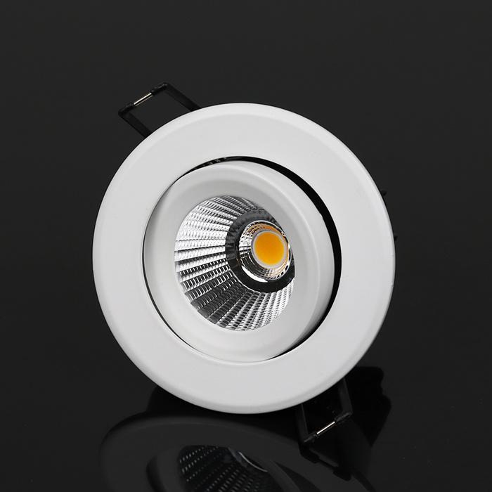 Aluminium Recessed LED COB Downlight 12W