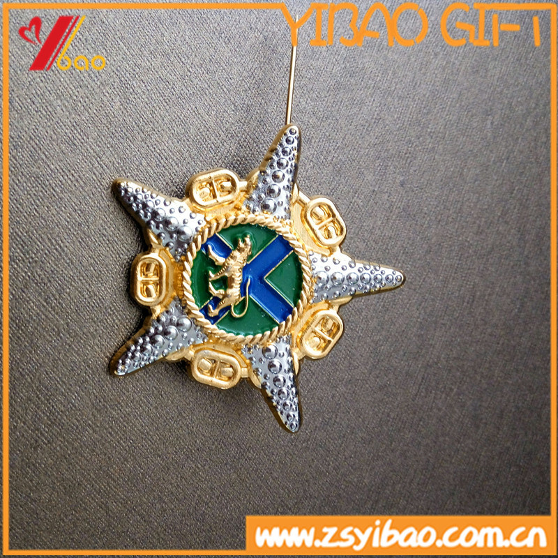 Sea Star-Shaped High Quality Lapel Brooch Pin Badge Pin Gift (YB-HR-55)