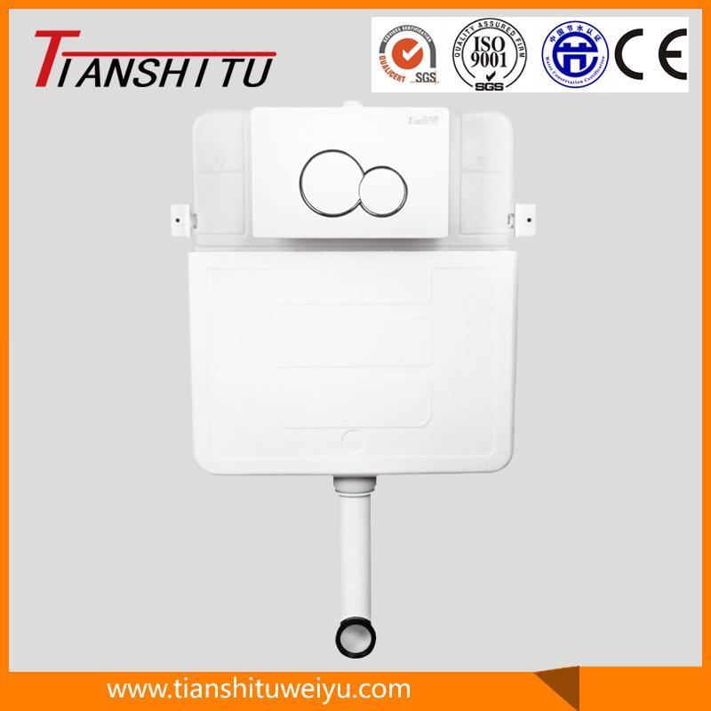 T80B in-Wall Cistern Watermark Concealed Cistern for Wall-Hung Toilet Dual Flush Front Button, Cistern