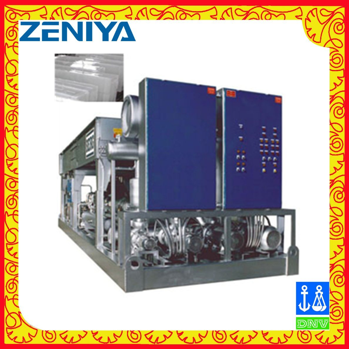 Water Cooled Block Ice Machine for Cold Storage