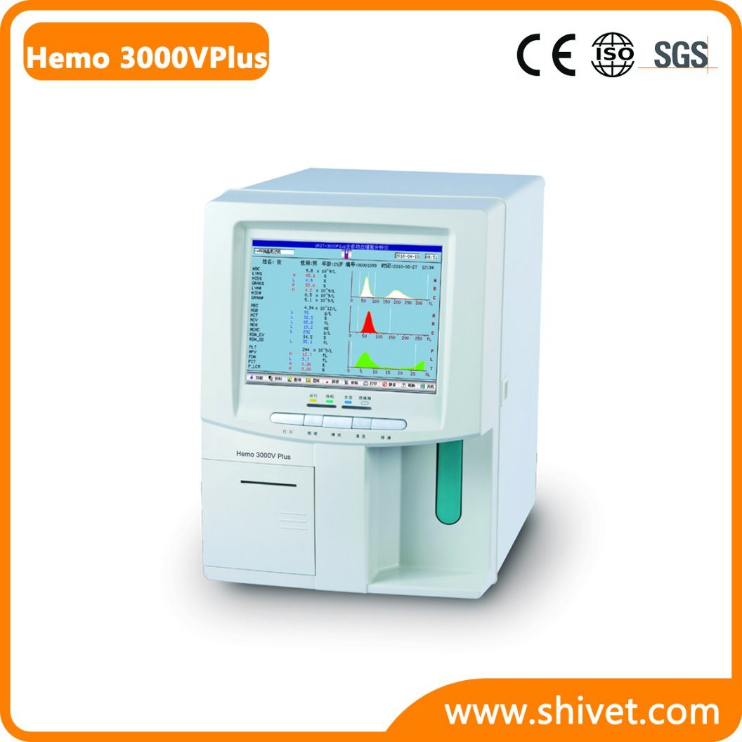 Veterinary Automated Hematology Analyzer (Hemo 3000V Plus)