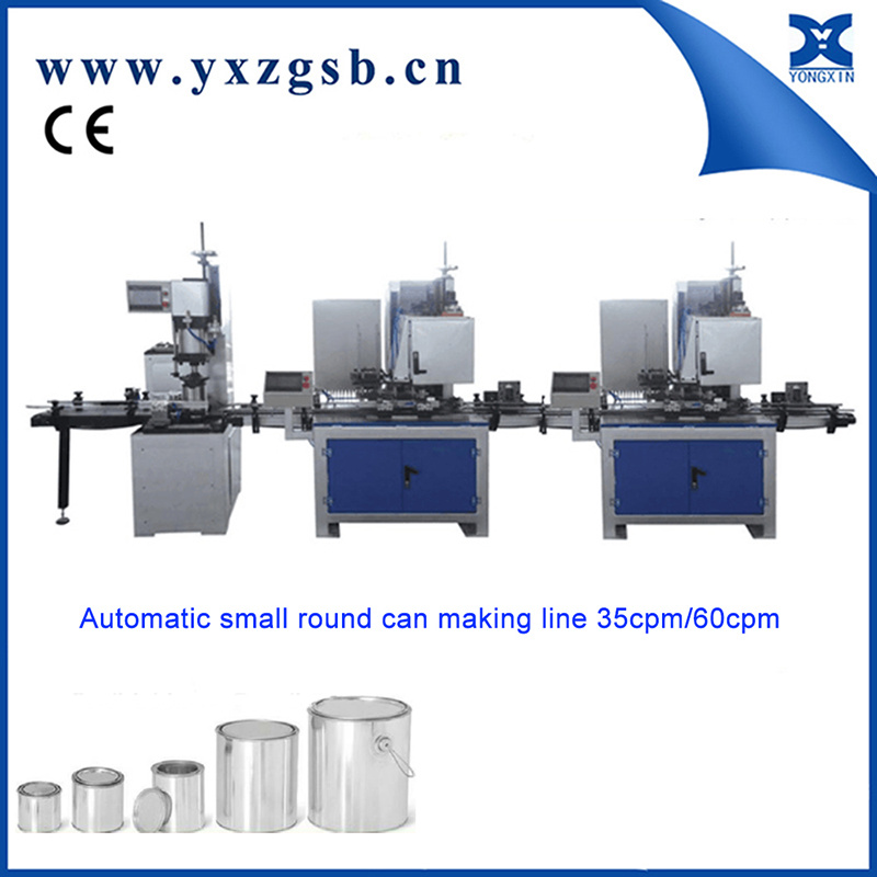 Completely Automatic 0.2L-5L Chemical Tin Can Making Equipment Machinery 35cpm/60cpm