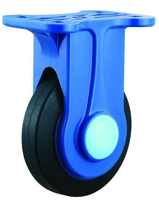 4/5 Inch Er Noiseless Trolley Castor with Nylon Bracket Elastic Rubber Industrial Caster Wheel