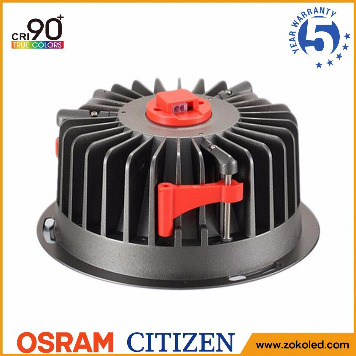5-Year Warranty CRI90+ 40W Citizen COB LED Ceiling Downlight with Osram Driver