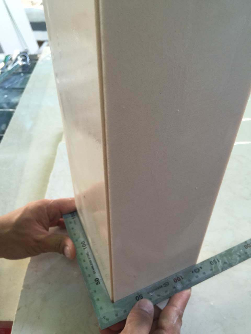 Beige Engineered Artificial Stone for Wall