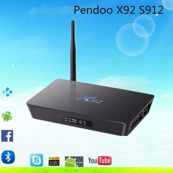 2016 Ott Box Pendoo X92 S912 2g 16g Octa Core Kodi 17.0 TV Box