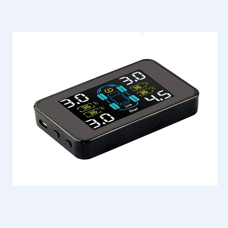 Solar Wireless Tire Pressure Monitoring System with 4PCS Internal Sensor