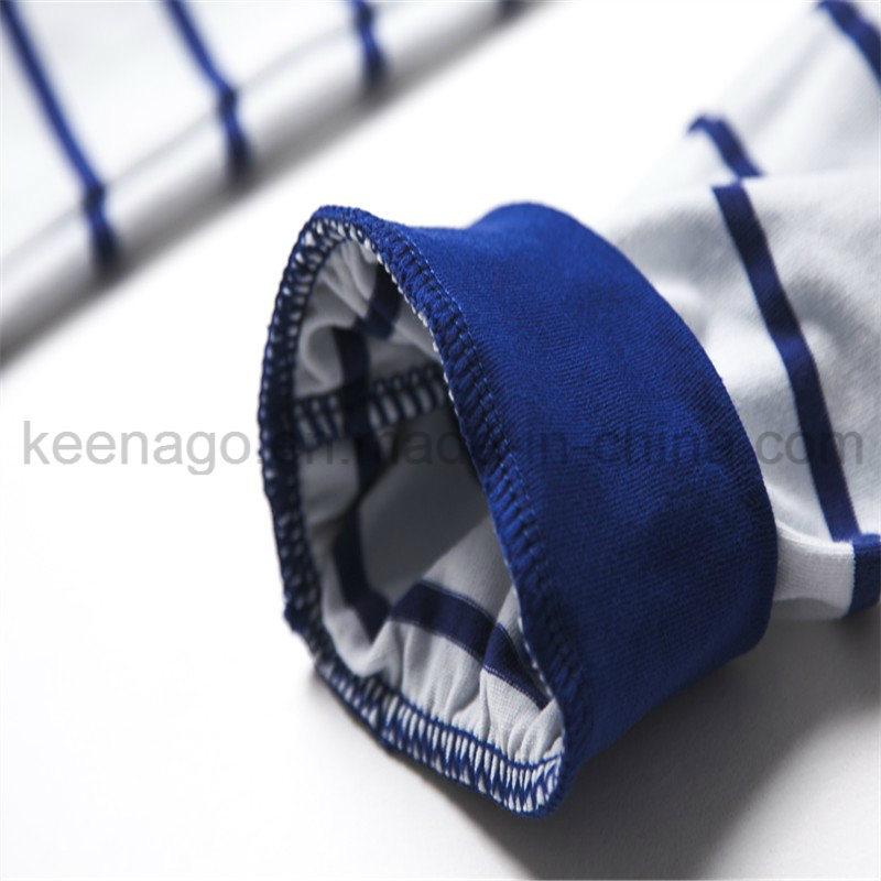 Boys Organic Cotton Long Sleeve Striped Sleepwear Suit Pajamas