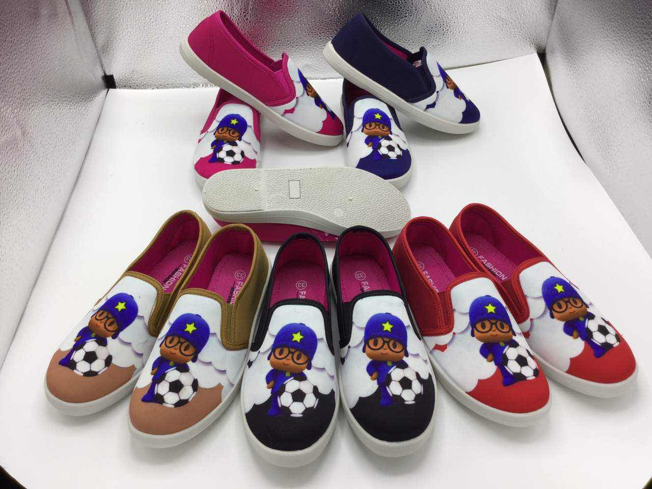 China Wholesale Child Casual Shoes Canvas Upper Injection Sole