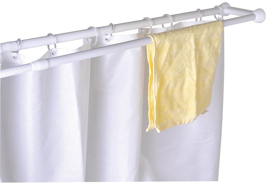 Double Shower Curtain Rod- (HM2075-AC)