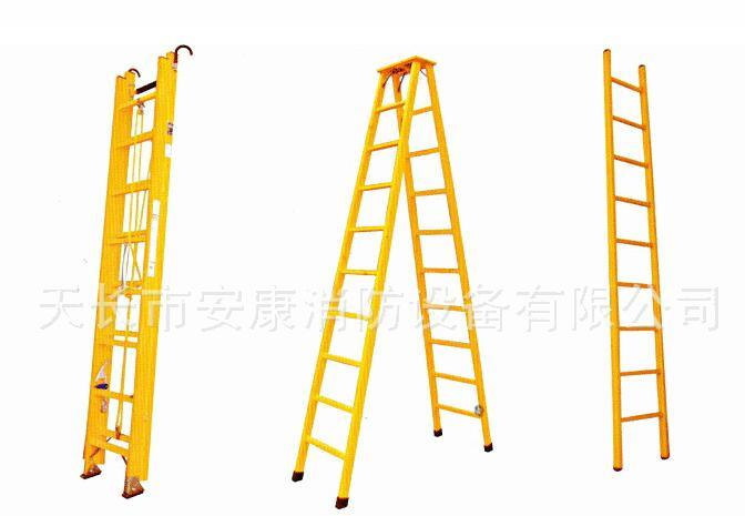 8m Aluminium Alloy Rung Elongating Type Hard Ladder