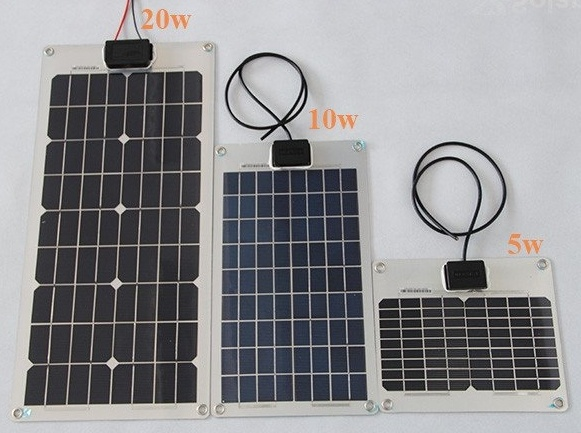 5W Semi Flexible Solar Panel for Solar Charger.