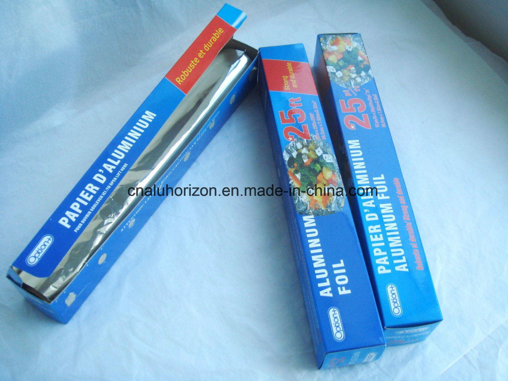 8011 O Temper 11 Microns 305mm Width Household Aluminium Foil