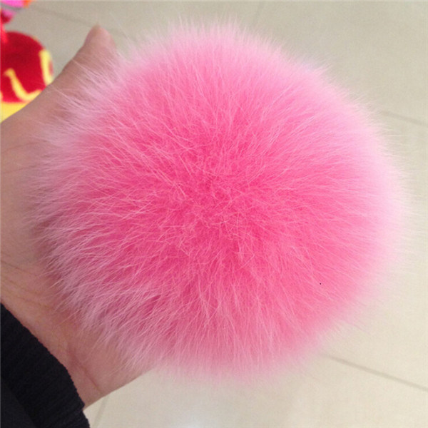 Fur Ball Key Chain/Fur Pompom for Hats/Real Fox Fur POM Poms