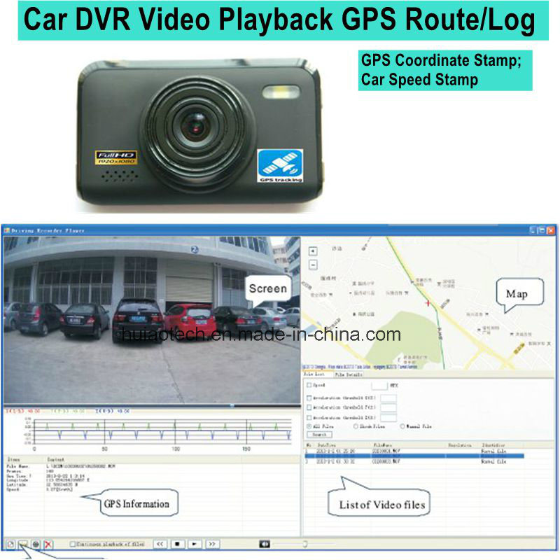 2016 New 2.7inch Car Black Box with GPS Tracking Route Car Dash Camera by Google Map Playback, GPS Logger Car Digital Video Recorder DVR-2709