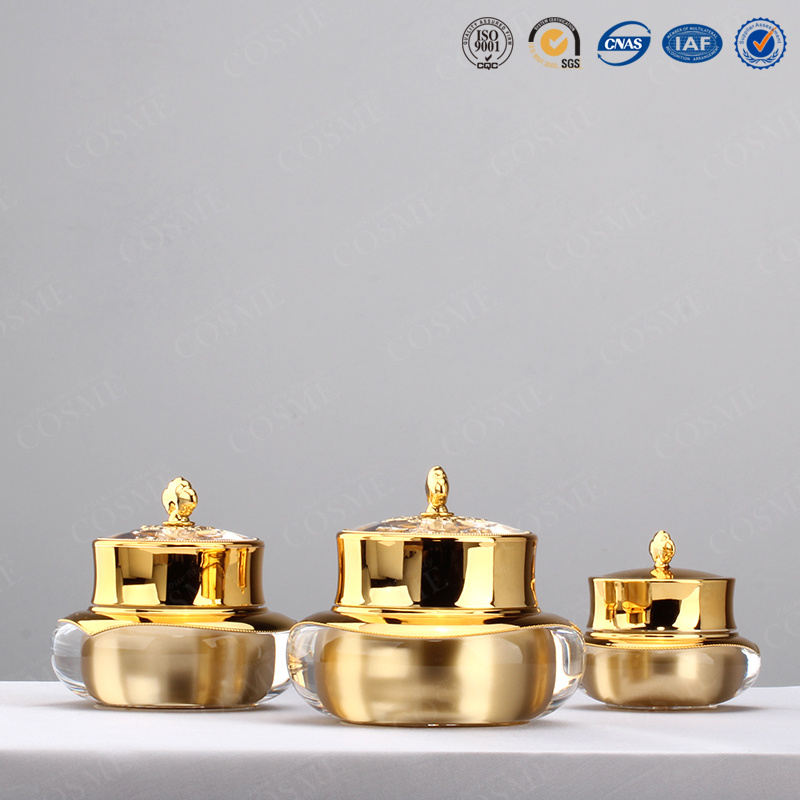 15ml 30ml 50ml Gold Crown Shaped Plastic Cosmetic Packaging