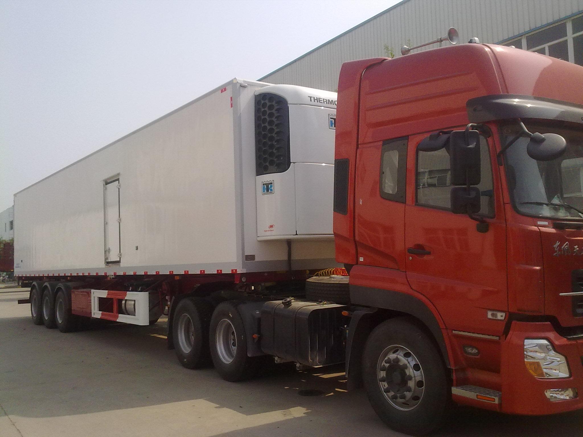 Semi Truck Refrigerators : China axles semi trailer refrigerator truck zz m