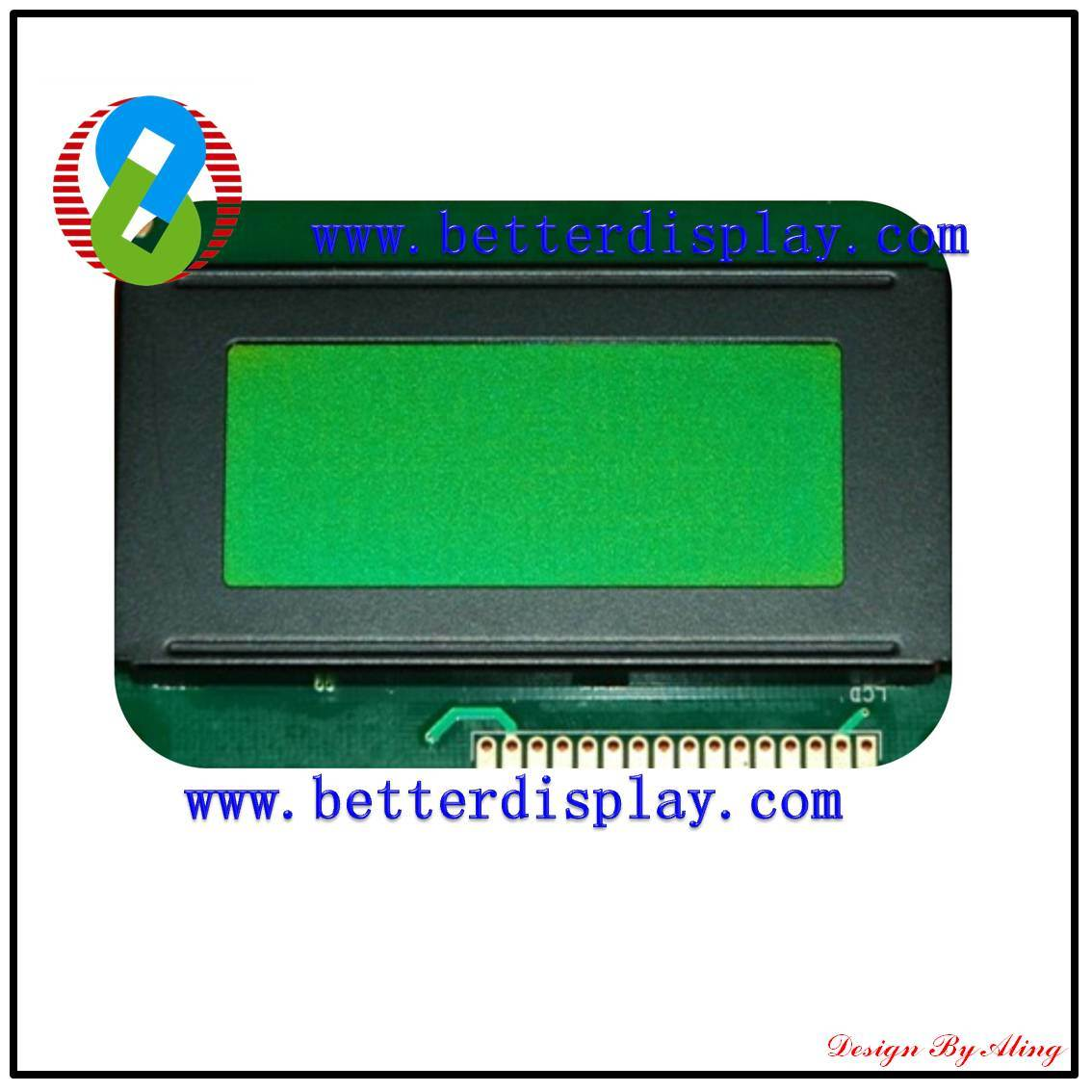 LCD Display Stn Green Negative LCM Monitor Touch LCD Panel