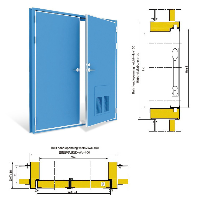 Marine Fireproof Door (double leaves)