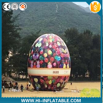 High Quality Party Decoration Giant 15m High Inflatable Easter Egg for Easter Decoration