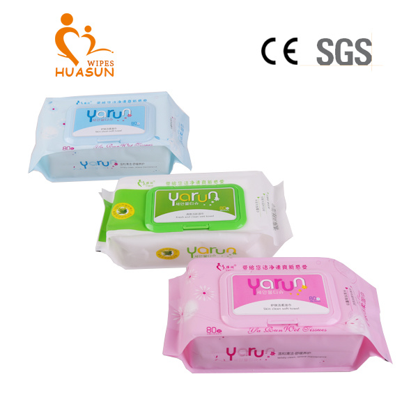 80 PCS Bag Thickening Type with Plastic Lid Cleaning Wet Wipes