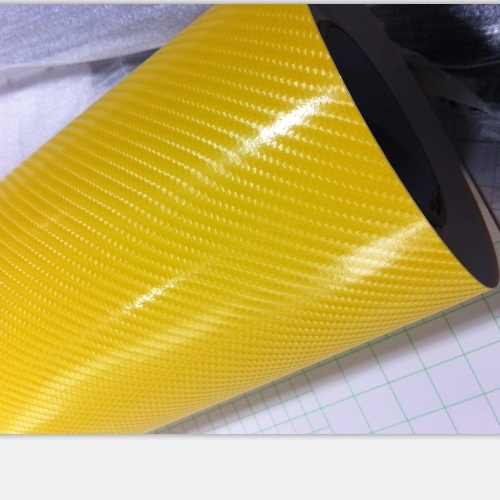 1.52 * 20m High Glossy Car Body Wrapping Vinyl 5D Carbon Fiber