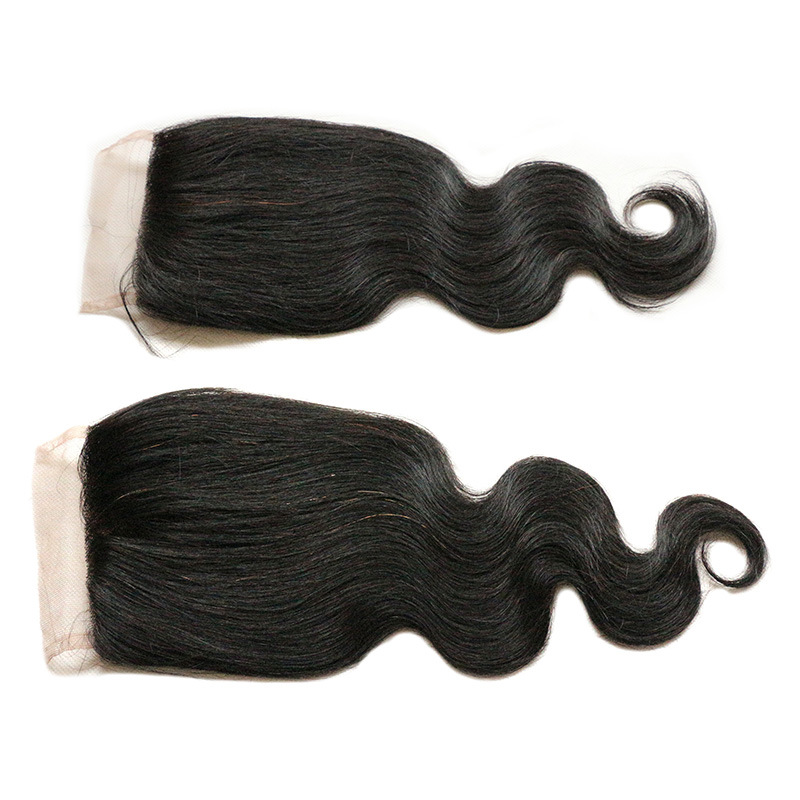 Human Hair Lace Closure Brazilian Virgin Hair Body Wave Lace Frontal Closure Brazilian Body Wave Lace Closure