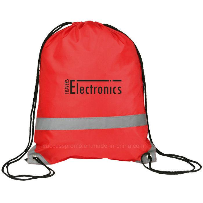 Reflective Backpack Drawstring Bag with Customer Logo