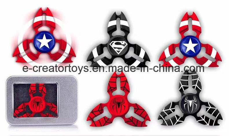 2017 New High Fashionable Aluminium Alloy Hand Spinner Superman/Captain America/ Fidget Spinner Finger