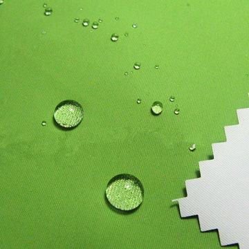 Waterproof Nylon Taslan Jacket Fabric with PU Milky Coating