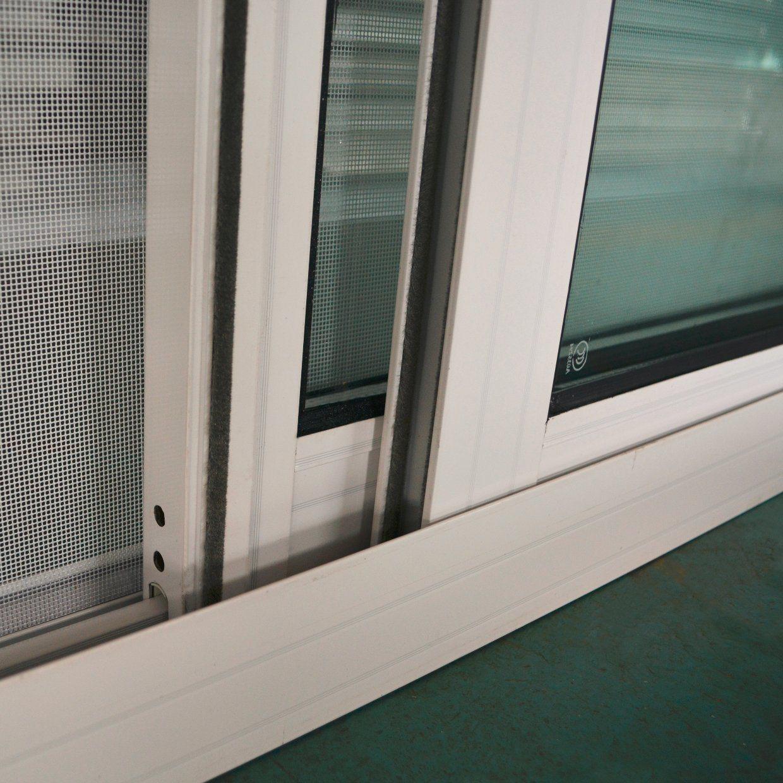 Powder Coated Aluminium Profile Window with Crescent Lock Mosquito Net, Aluminium Sliding Window/Aluminum Sliding Window K01006