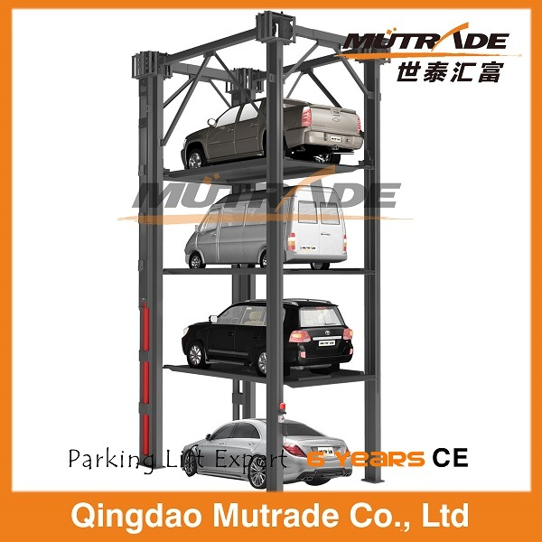 Four Post Hydraulic Three Car Stacker