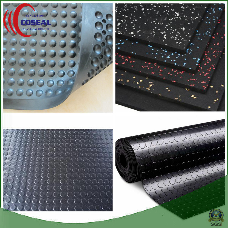 Five Colors of SBR+Cr (Neoprene) Rubber Mat for Floor