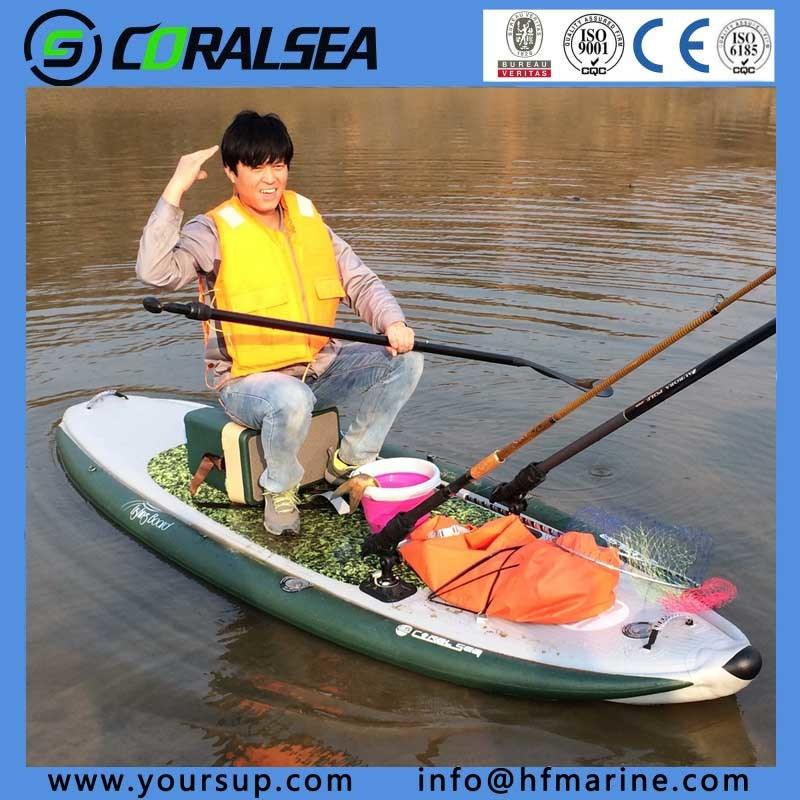 "PVC/PVC Material/EVA/EVA Material/PVC Drop Stitch Sup Board for Sale (Fishing Board 10′0"")"