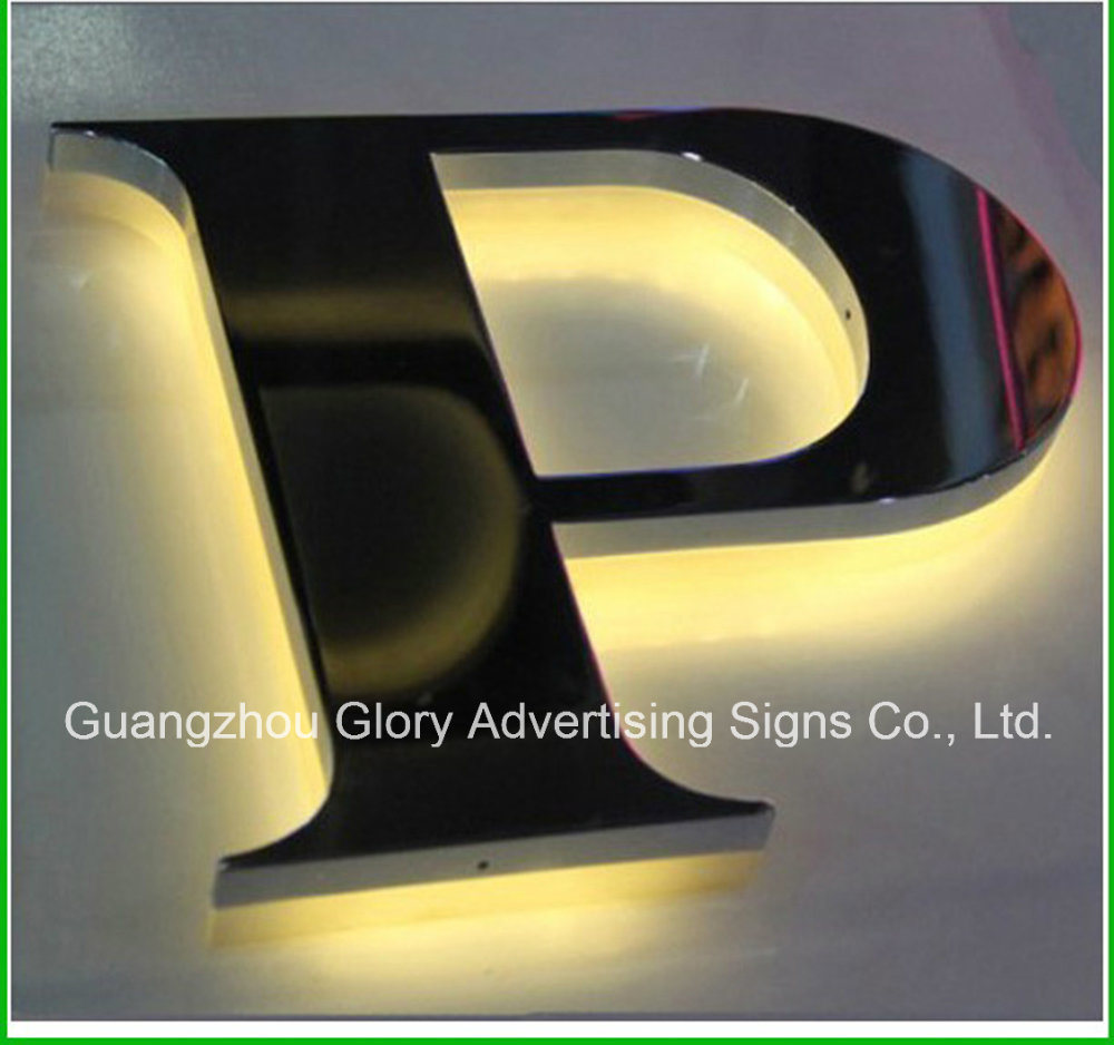 Stainless Steel LED Back-Lit LED Letter Sign for LED Lighting