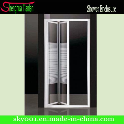 Hot Bathroom Sliding Folding Shower Door (TL-417)
