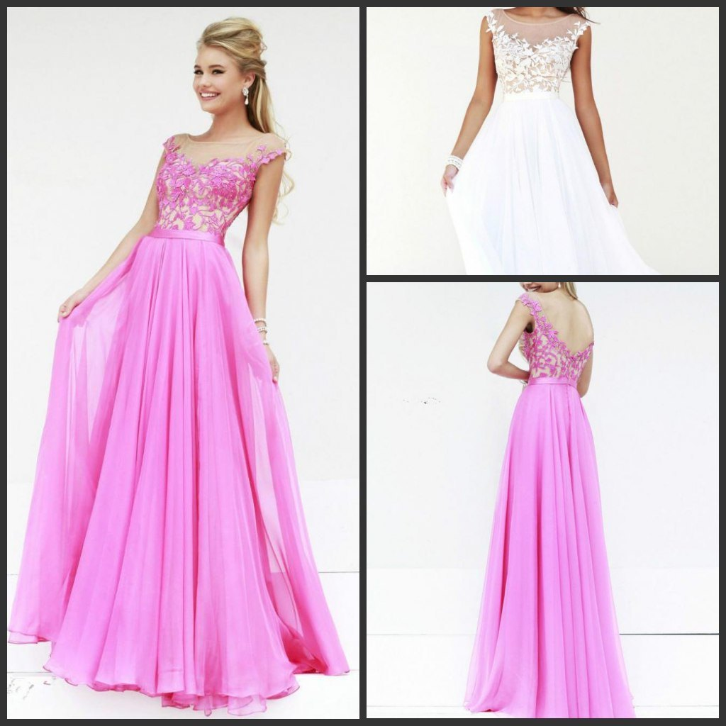 China chiffon evening dress lace bodice prom party gowns for Bridal wedding reception dresses
